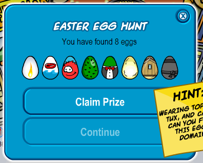 club penguin easter egg hunt 2008